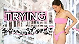 trying on my ENTIRE wardrobe | closet clean out