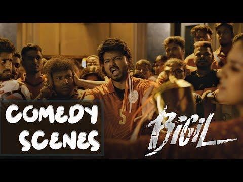 Bigil | Tamil Movie | Comedy Scenes Compilation | Vijay | Nayanthara | (English Subtitles)