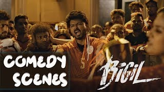 Bigil | Tamil Movie | Comedy Scenes Compilation | Vijay | Nayanthara | (English Subtitles)
