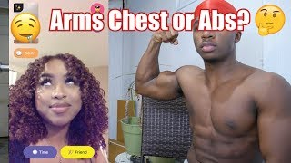 Download ARMS CHEST OR ABS?? | Asking Random Girls on the Monkey App Mp3 and Videos
