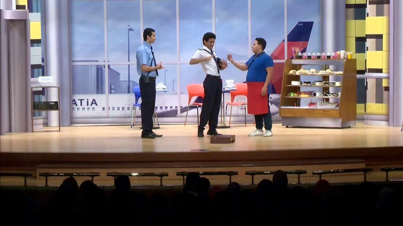 مسرح مصر - حمدي ميرغني طيار لأول مرة شاهد ما فعله