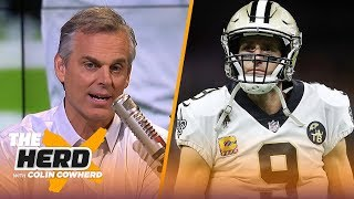 Drew Brees joins Colin Cowherd after breaking NFL record for all-time passing yards   NFL   THE HERD