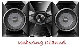 Unboxing and review Sony MHC-ECL77BT