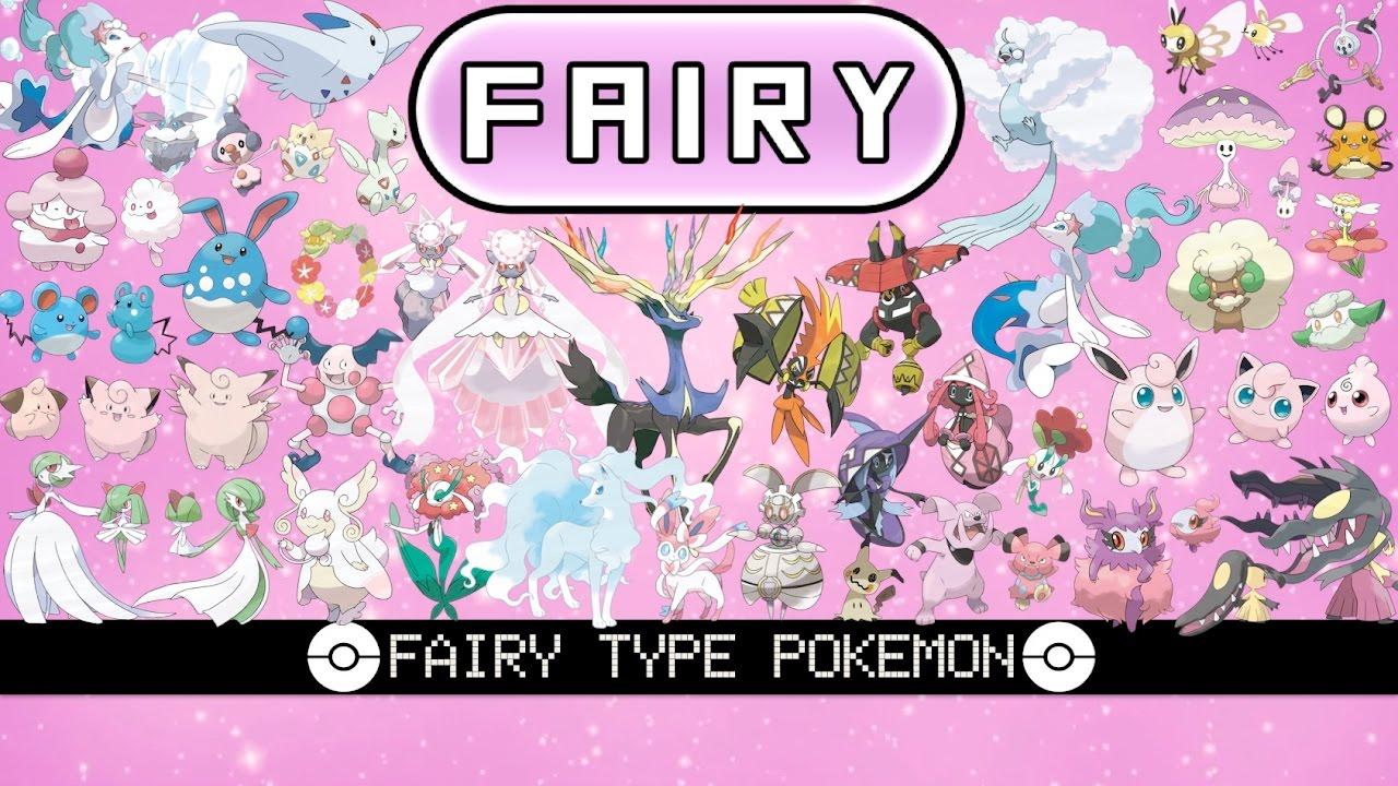 All Fairy Type Pokémon - YouTube