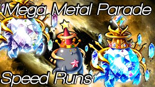 Brave Frontier | Mega Metal Parade | Speed Runs!!