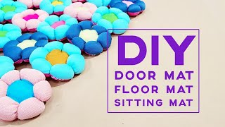 Basic Sewing Ideas | Upcycle Old Clothes Into Puff Flower Mat Design | Mother's day gift ideas❤❤