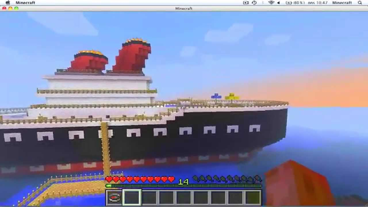 how to make a big moving boat in minecraft