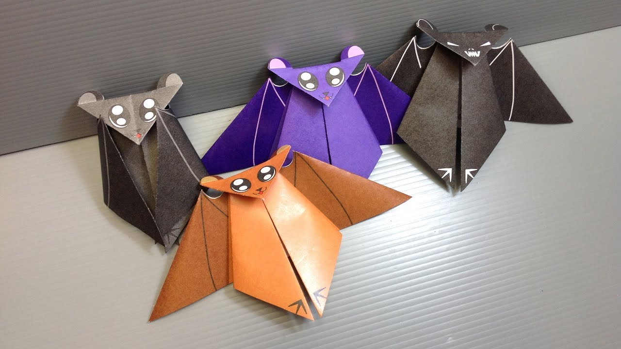 Origami halloween bat print your own paper youtube jeuxipadfo Gallery