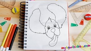How to draw a Cocker Spaniel - Easy step-by-step drawing lessons for kids