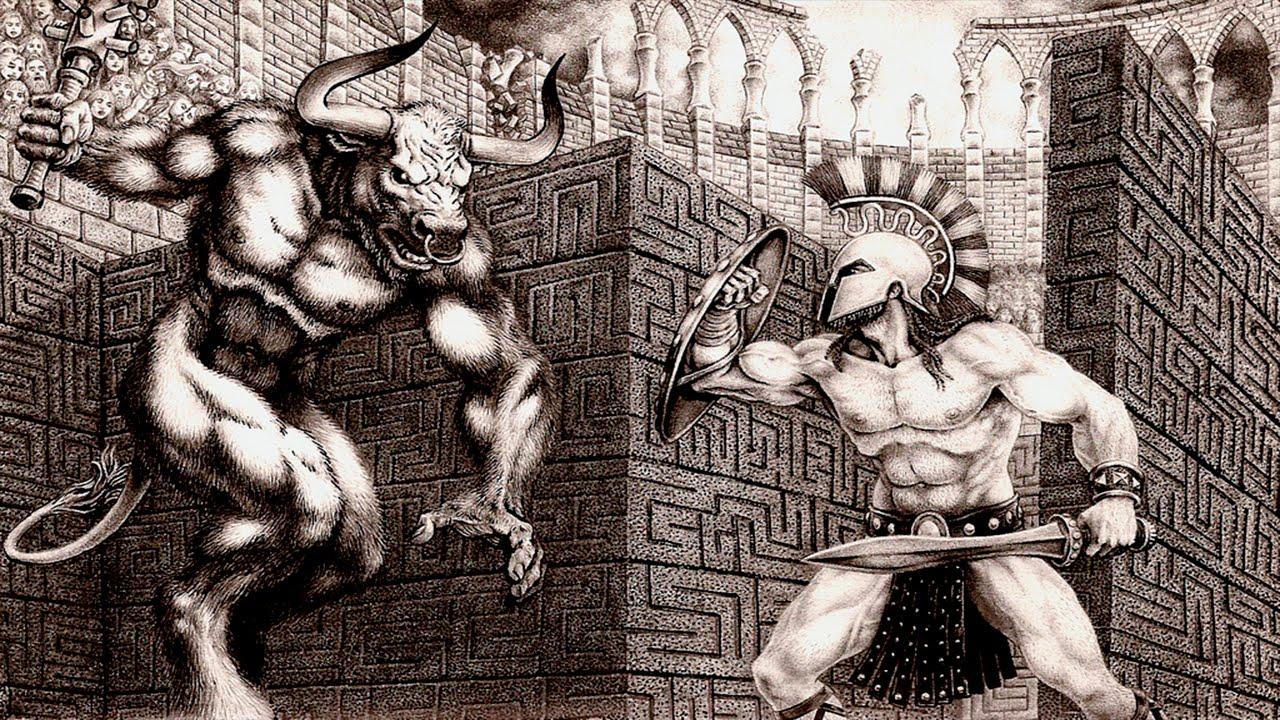 Resultado de imagen de teseo y el minotauro