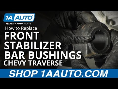 How to Replace Front Stabilizer Bar Bushings 07-16 Chevy Traverse