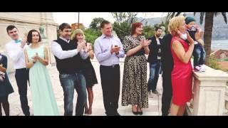 Красивая свадьба в Черногории Владимир и Оксана 04.04.2015