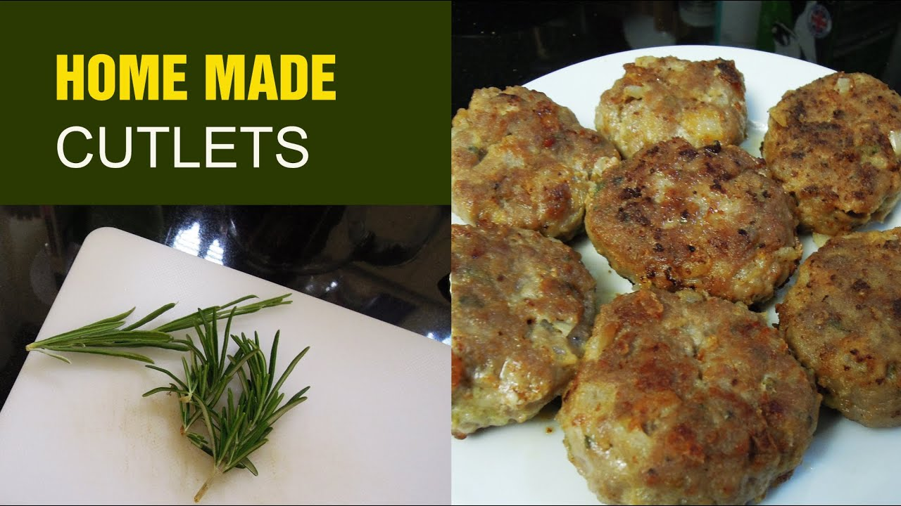 Home Made Beef Cutlets with Herbs grown in my Urban Garden inc Thyme, Rosemary, Lavender, Onion...