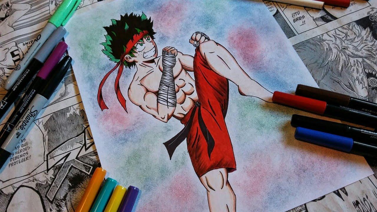 Speed Drawing Midoriya Izuku Fan Art Boku No Hero Academia