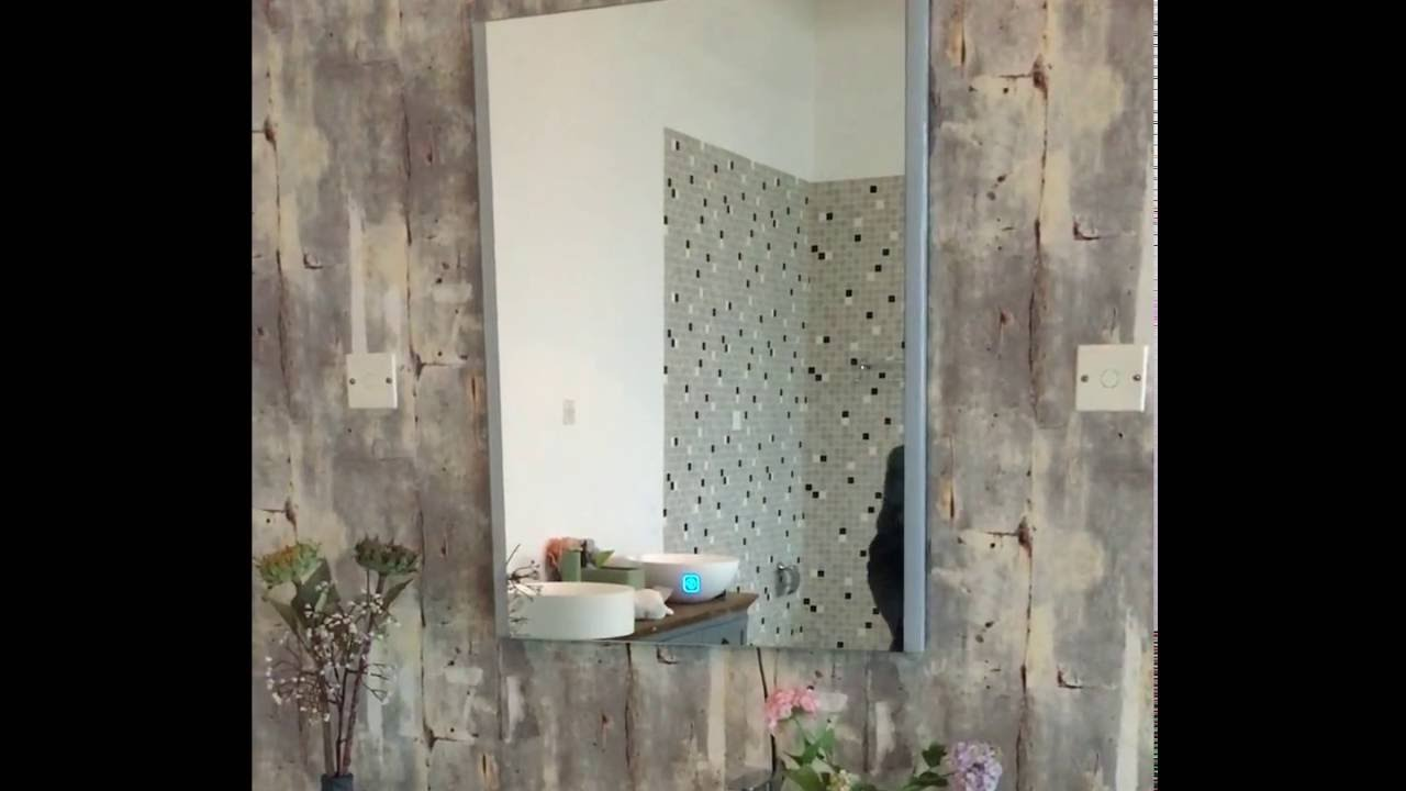 Bathroom Music led bathroom music mirror with bluetooth speaker lb8060 - youtube