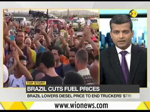 Brazil Cuts Fuel Prices To End Truckers Strike