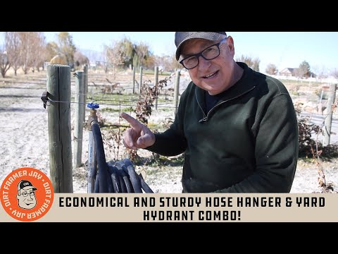 Economical and Sturdy Hose Hanger & Yard Hydrant Combo!