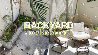 MY OUTDOOR SPACE MAKEOVER! backyard before & after!