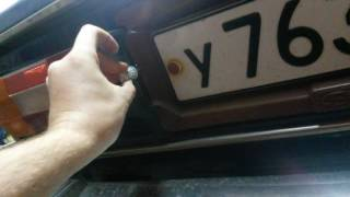 замена ламп подсветки номера на светодиодные ваз 2106 без переделок
