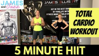 5 Minute HIIT WORKOUT || Total Cardio Workout || High Intensity Interval Training || Fat Burning
