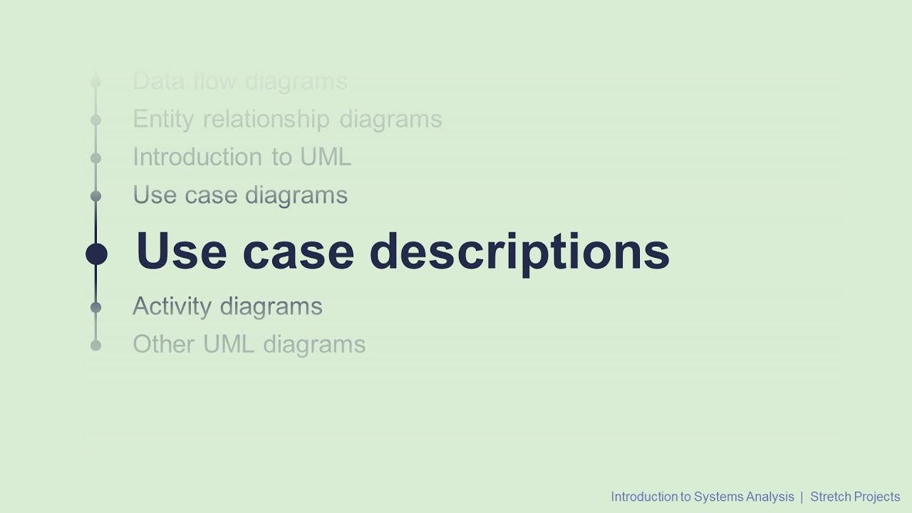 8 use case descriptions intro to systems analysis youtube 8 use case descriptions intro to systems analysis ccuart Gallery