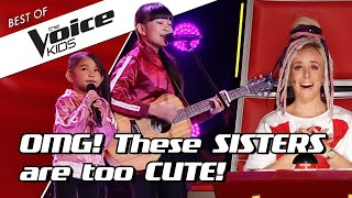 TOP 10 | The CUTEST SIBLINGS sing together in The Voice Kids