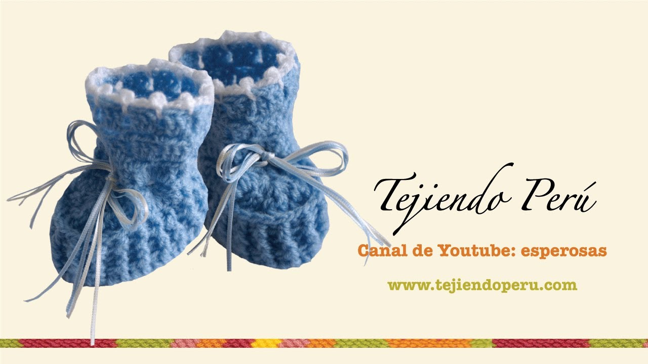 Zapatitos para bebE en crochet (Parte 2) - YouTube