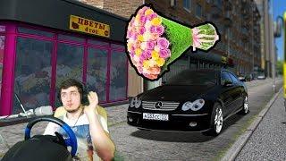 ПОЕХАЛ МАМЕ ЗА ЦВЕТАМИ - RP в CITY CAR DRIVING + РУЛЬ