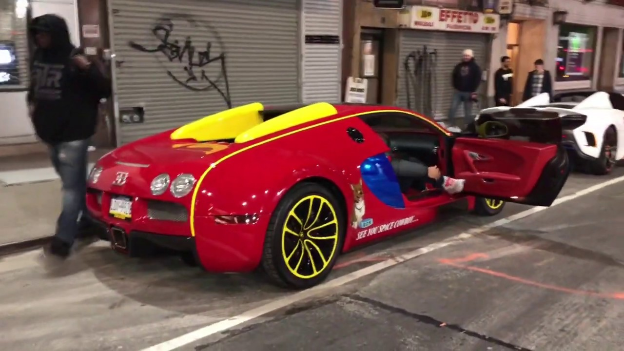 Lil Uzi Verts Bugatti Veyron F12tdf 675lt And More Nyc Car Spotting Youtube