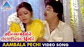 veetla eli veliyila puli tamil movie   aambala pechi video song   sv sekar   roopini