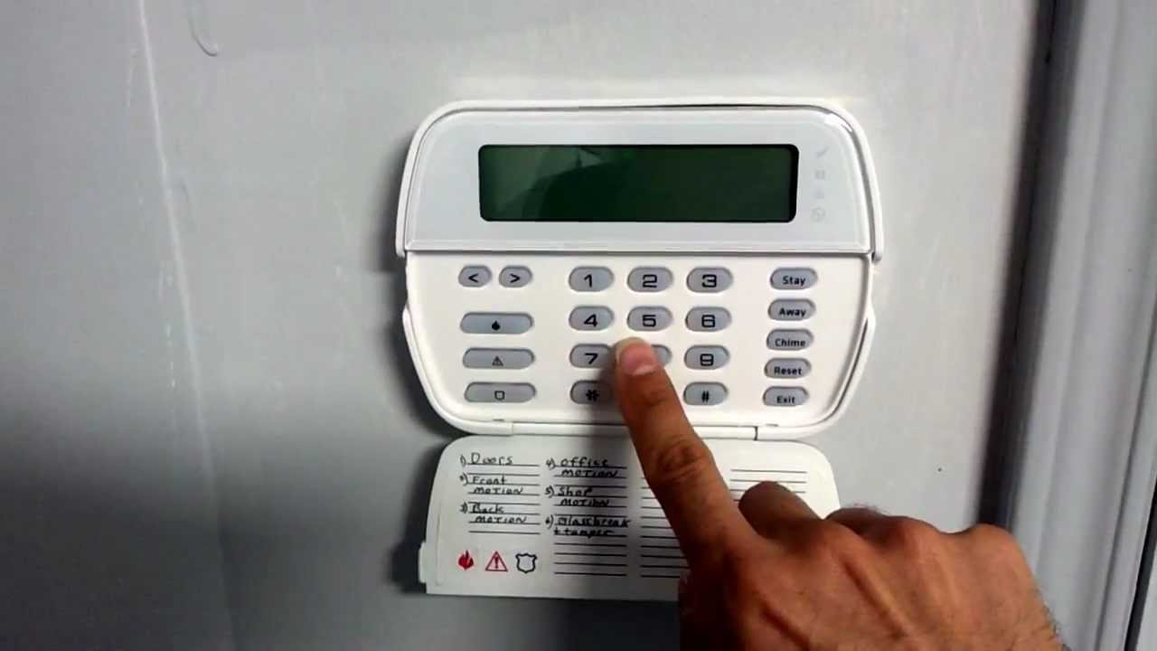 How to set time and date on DSC security system