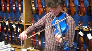 Richard plays the Cremona SV-75 coloured Violin range @ Hobgoblin Music Birmingham