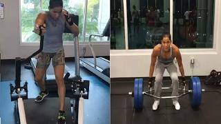 Amanda Nunes MMA training