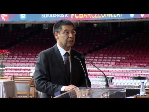 Asamblea General AFE. Asamblea 2014. Bienvenida Josep María Bartomeu
