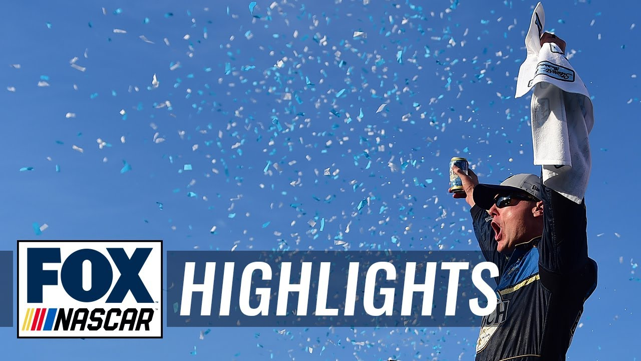 Kevin Harvick holds off Denny Hamlin in wild finish at New Hampshire | NASCAR on FOX HIGHLIGHTS