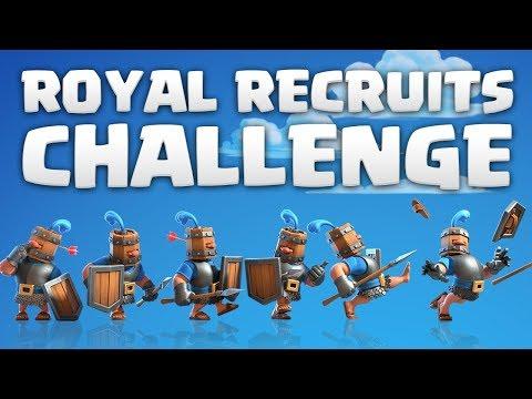 ROYAL RECRUITS CHALLENGE! 12 wins ay   Clash Royale 🍞