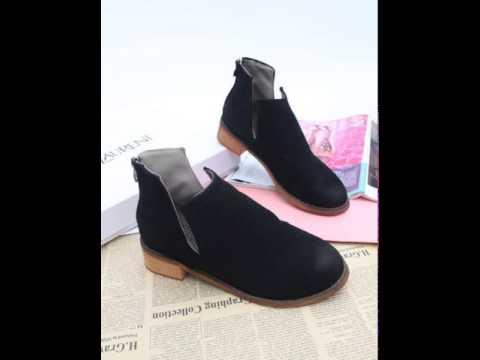 New scrub brush off round head for fall winter women's boots.avi