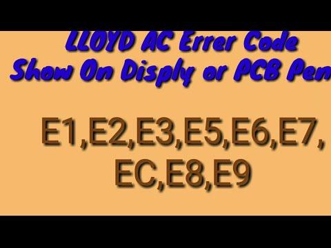 Lloyd AC Error Code May 24, 2018
