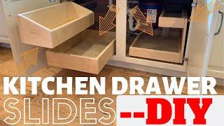 DIY Kitchen Drawers + Slides!