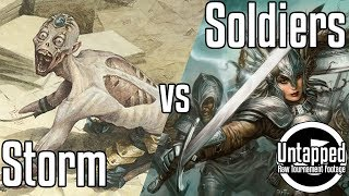 Storm VS Soldiers   Legacy Magic: the Gathering Raw Tournament Footage   Untapped