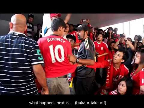 Fan Manchester United troll fan Liverpool tour Malaysia