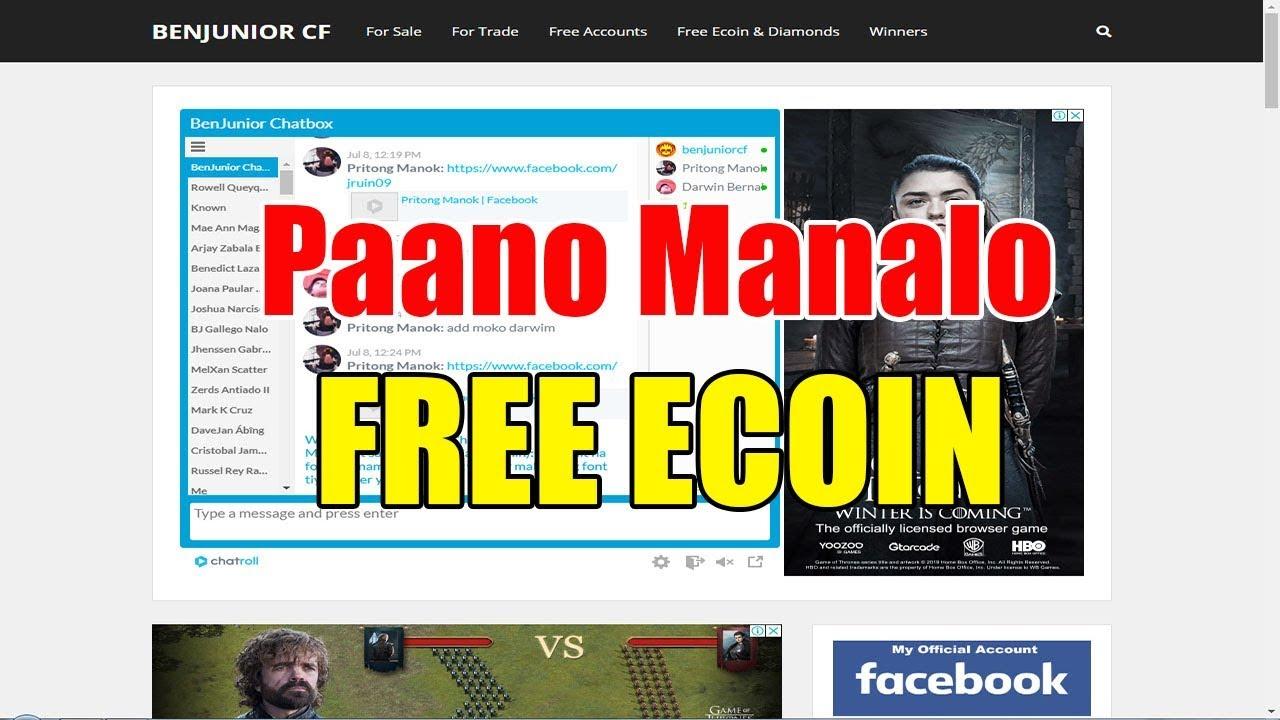 Paano Sumali at Manalo ng Free Ecoin