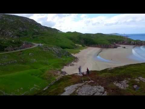 Golden Eagle Zip Line @Ceannabeinne Beach, Durness