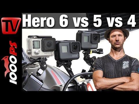 GoPro Hero 6 vs Hero 5 vs Hero 4 - Hands On - Was ist neu? Was ist besser ? Test Review