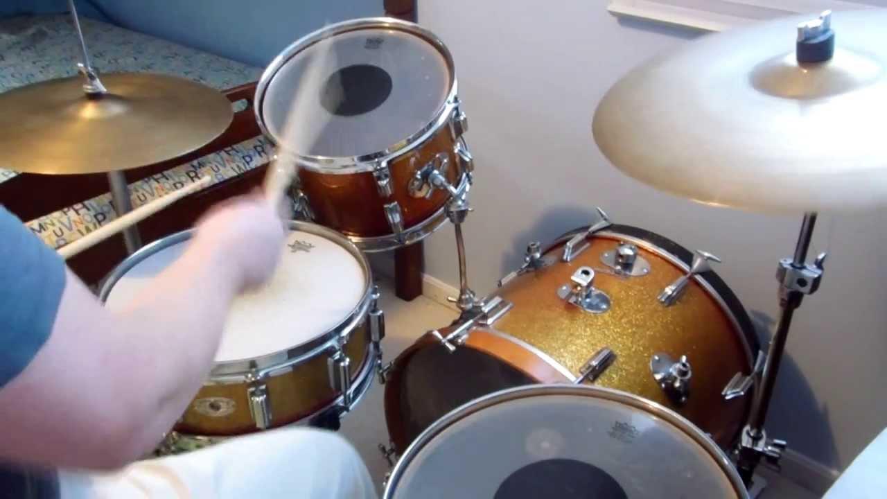 Jazz Drum Kits : vintage rogers jazz drum kit with wood dynasonic snare youtube ~ Russianpoet.info Haus und Dekorationen