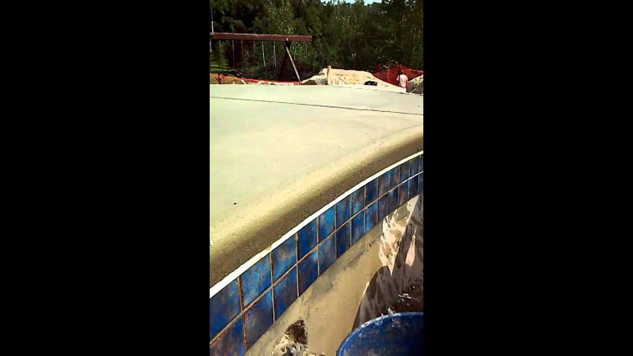 How To Do Cantilever Concrete Coping Pool Decks Youtube