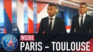 INSIDE - PARIS SAINT-GERMAIN VS TOULOUSE with Neymar Jr, Adrien Rabiot, Javier Pastore