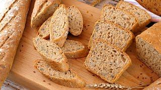 Хлеб из 100 цельнозерновой пшеничной муки с семенами в духовке