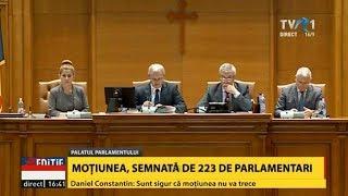 PSD vs. PSD: Moţiunea de cenzură împotriva Guvernului Grindeanu a fost citită în Parlament