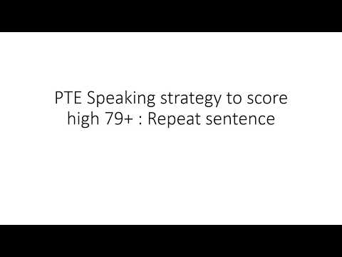 PTE Speaking strategy for Repeat sentence by Bharat Bhushan
